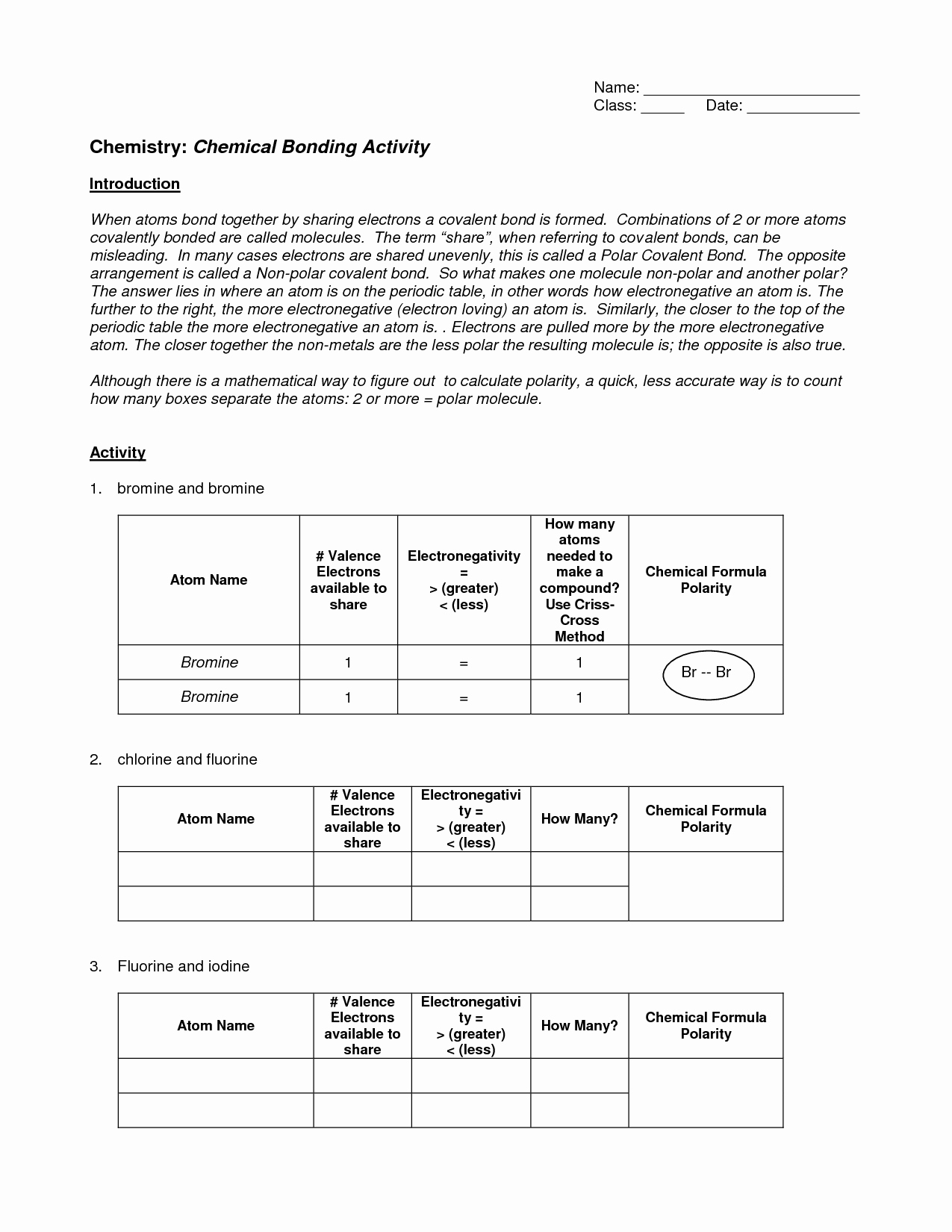 Chemical Bonding Worksheet Answer Key Awesome 11 Best Of Bonding Basics Ionic Bonds Worksheet