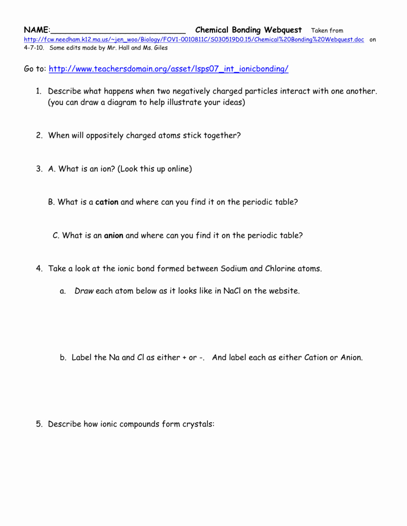 Chemical Bonding Worksheet Answer Key Awesome Worksheet Chemical Bonding Worksheet Answers Grass Fedjp