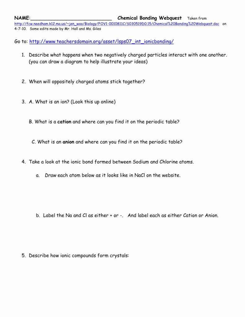 Chemical Bonding Worksheet Answer Key Beautiful Worksheet Chemical Bonding Worksheet Answers Grass Fedjp