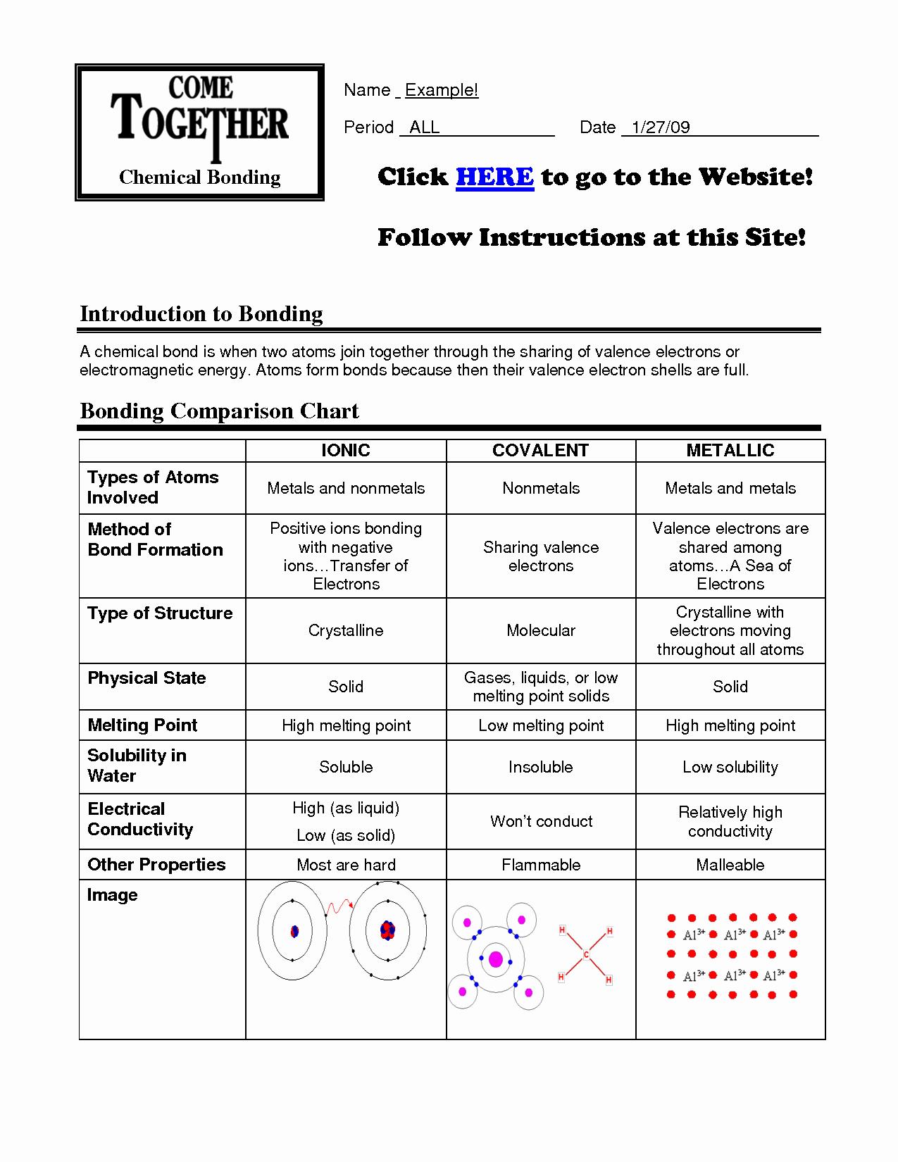 Chemical Bonding Worksheet Key Best Of 16 Best Of Types Chemical Bonds Worksheet