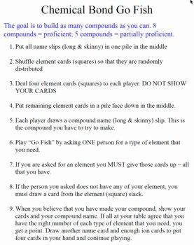 Chemical Bonds Ionic Bonds Worksheet Lovely Chemical Bonding Go Fish & Other Games Ionic & Covalent