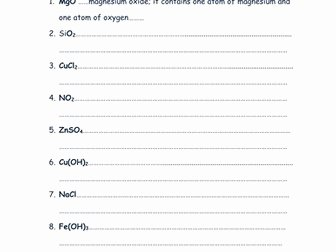 Chemical formula Writing Worksheet Inspirational Writing Chemical Equations Worksheets with Answers by