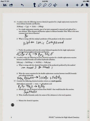 Chemical Reaction Type Worksheet Luxury Types Chemical Reaction Worksheet