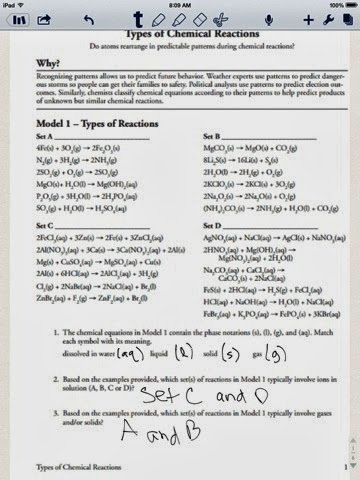Chemical Reactions Types Worksheet Elegant Chem Blog Types Of Chemical Reactions Pogil