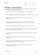 Chemistry Conversion Factors Worksheet Luxury Chemistry Conversion Factors Lesson Plans & Worksheets