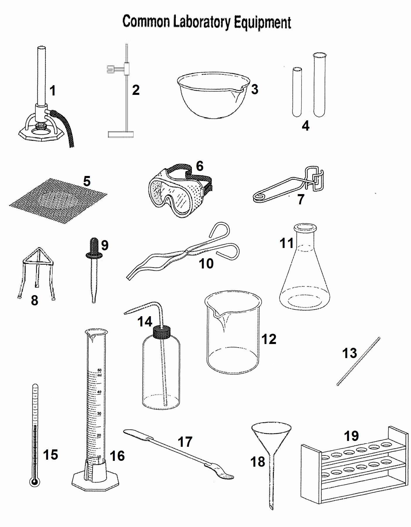 Chemistry Lab Equipment Worksheet New 40 Lab Equipment Worksheet Go Back Gallery for Chemistry