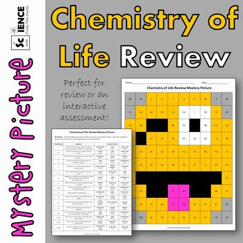 Chemistry Of Life Worksheet Fresh Chemistry Of Life Review Mystery Picture for Review or