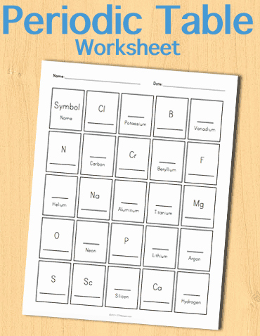 Chemistry Periodic Table Worksheet Lovely Customizable and Printable Periodic Table Worksheet