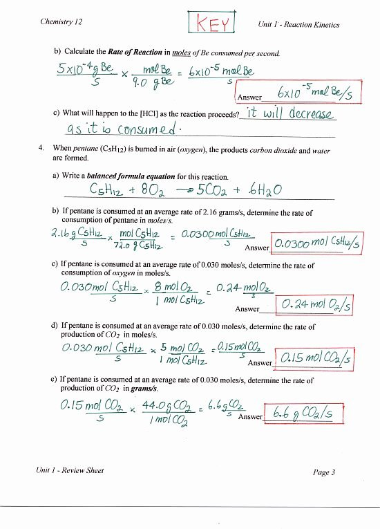 Chemistry Review Worksheet Answers Beautiful Chemistry 12 Mr Nguyen S Website