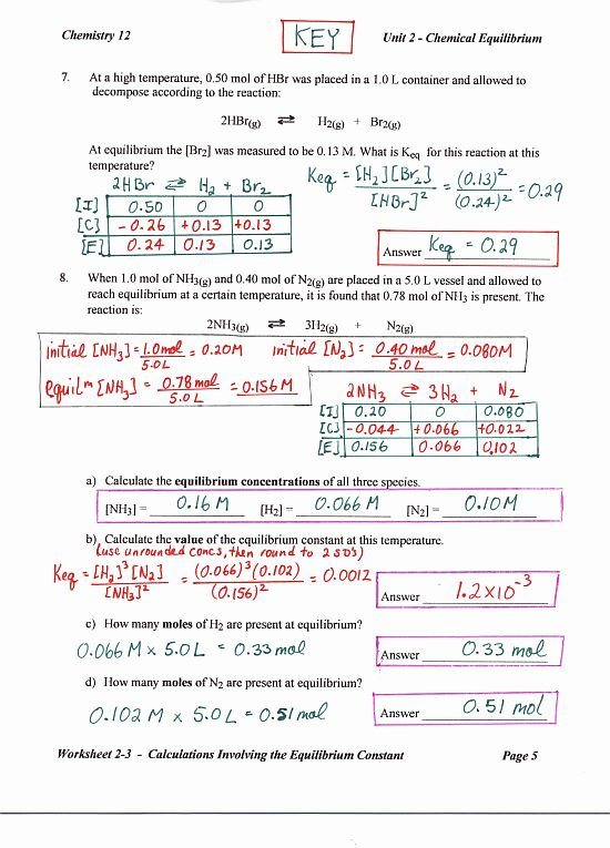 Chemistry Review Worksheet Answers Fresh Chemistry 12