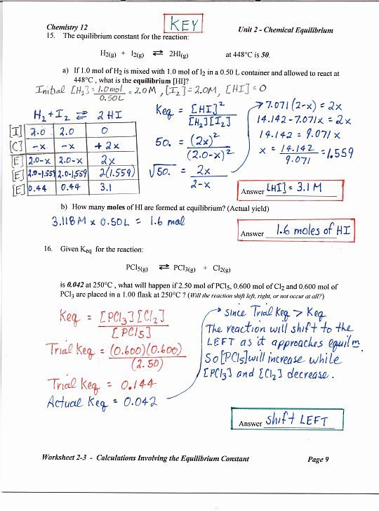 Chemistry Review Worksheet Answers Inspirational Chemistry 12 Mr Nguyen S Website