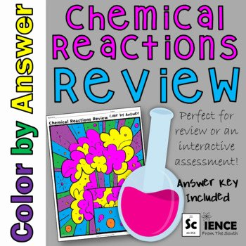 Chemistry Review Worksheet Answers Lovely Chemical Reactions Review Color by Answer Worksheet by