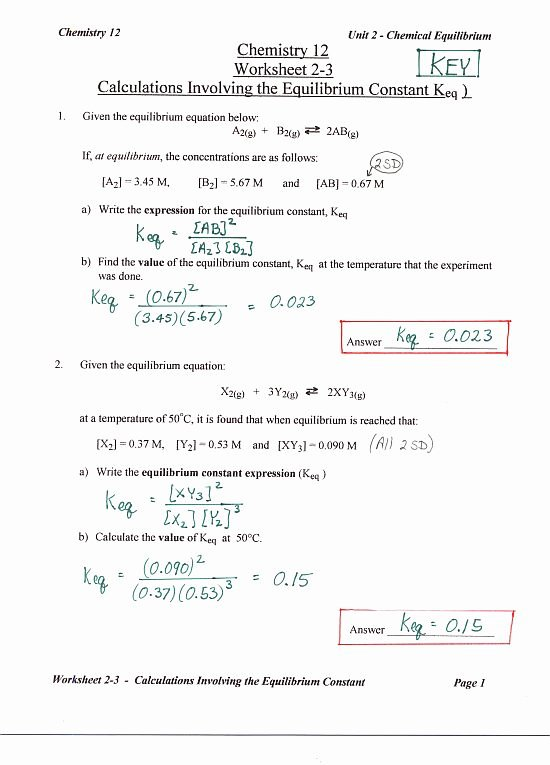 Chemistry Review Worksheet Answers Unique Chemistry 12