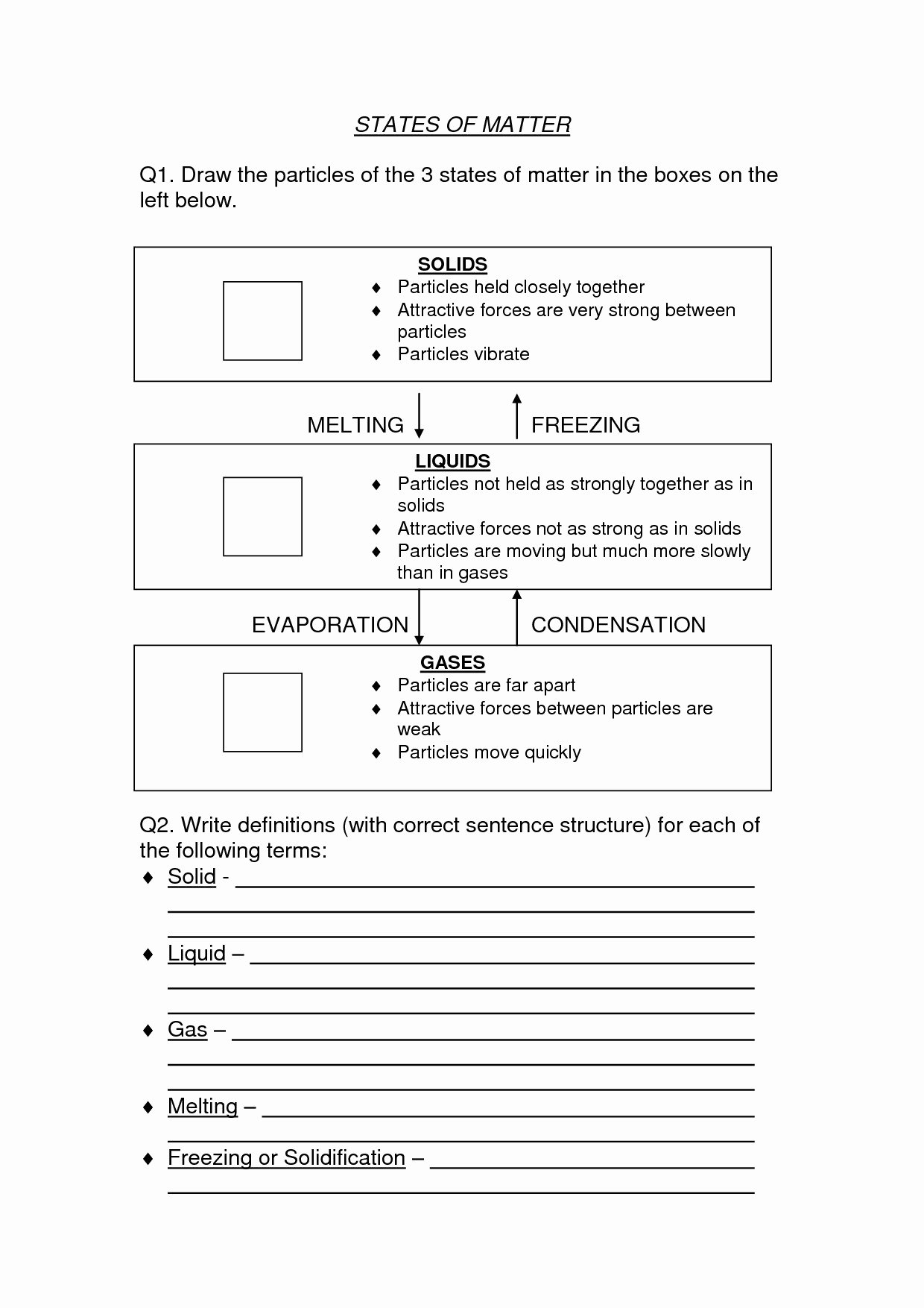 Chemistry Worksheet Matter 1 Answers Best Of Chemistry 1 Worksheet Classification Matter and Changes