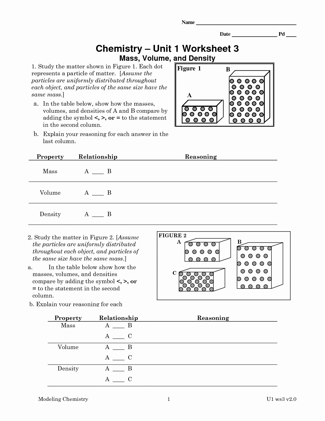 Chemistry Worksheet Matter 1 Answers Luxury Chemistry 1 Worksheet Classification Matter and Changes