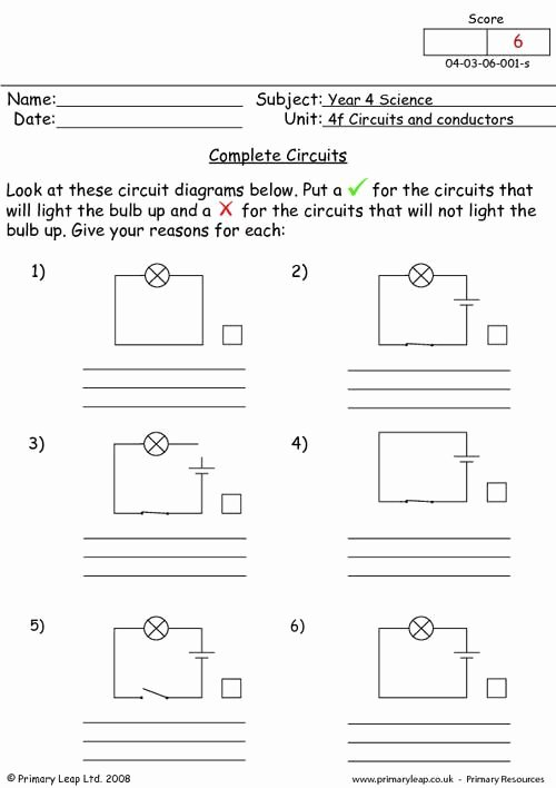 Circuits Worksheet Answer Key Best Of Plete Circuits Worksheet