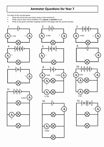 Circuits Worksheet Answer Key Lovely Resources for Ks3 Electricity Unit by Dazayling Teaching