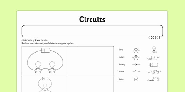 Circuits Worksheet Answer Key Luxury Circuits Worksheet Activity Sheet Switches Series