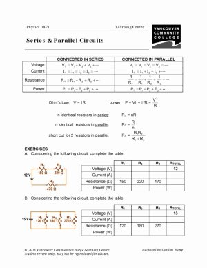 Circuits Worksheet Answer Key Luxury Vcc Lc Worksheets Physics – Physics 0861 0871