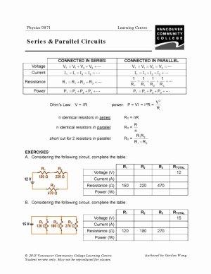 Circuits Worksheet Answer Key Luxury Vcc Lc Worksheets Physics – Physics 0861 0871