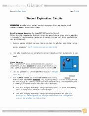 Circuits Worksheet Answer Key New Create A Circuit as Shown the Battery to Select It