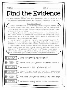 Cite Textual Evidence Worksheet Awesome Text Detectives Find the Text Evidence Freebie Sampler
