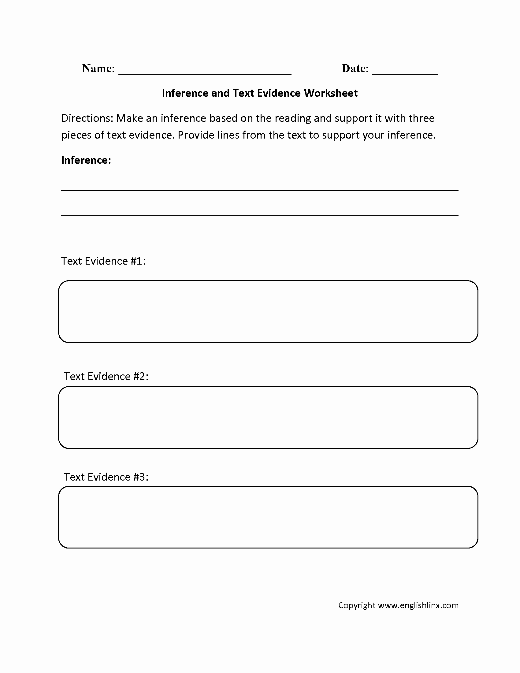 Cite Textual Evidence Worksheet Beautiful Englishlinx