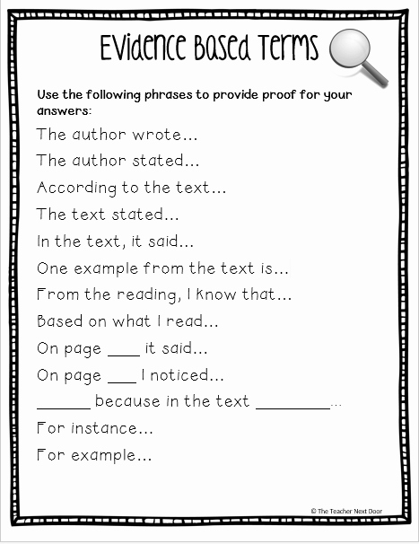 Cite Textual Evidence Worksheet Inspirational Upper Elementary Snapshots Citing Text Evidence In 6 Steps