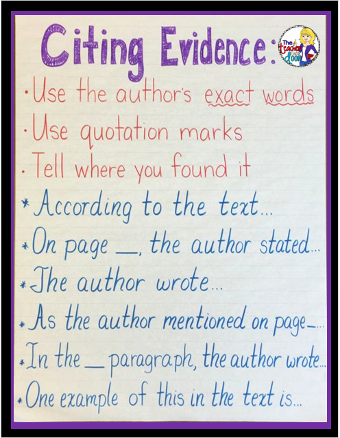 Cite Textual Evidence Worksheet Lovely Upper Elementary Snapshots Citing Text Evidence In 6 Steps