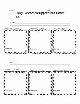 Cite Textual Evidence Worksheet Unique Citing Textual Evidence Graphic organizers Mon Core