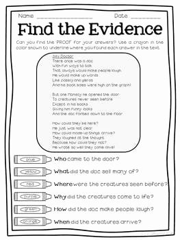 Citing Textual Evidence Worksheet Awesome Text Detectives Find the Text Evidence March Edition by