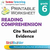 Citing Textual Evidence Worksheet Best Of Citing Textual Evidence Practice Worksheets & Teaching