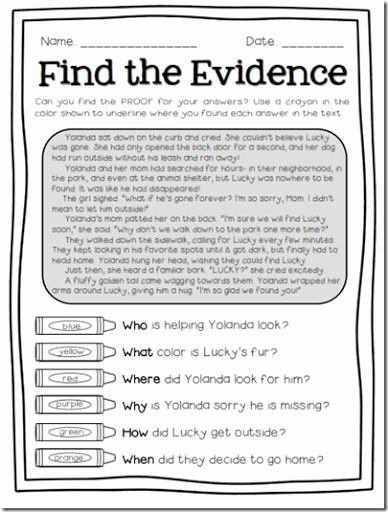 Citing Textual Evidence Worksheet Luxury Find the Evidence with these Text Detectives Pages Love