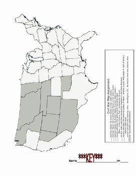 Civil War Battles Map Worksheet New Civil War Battle Chart and Map assignment by Randy Tease