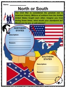 Civil War Map Worksheet Fresh American Civil War Facts Worksheets History & Impact