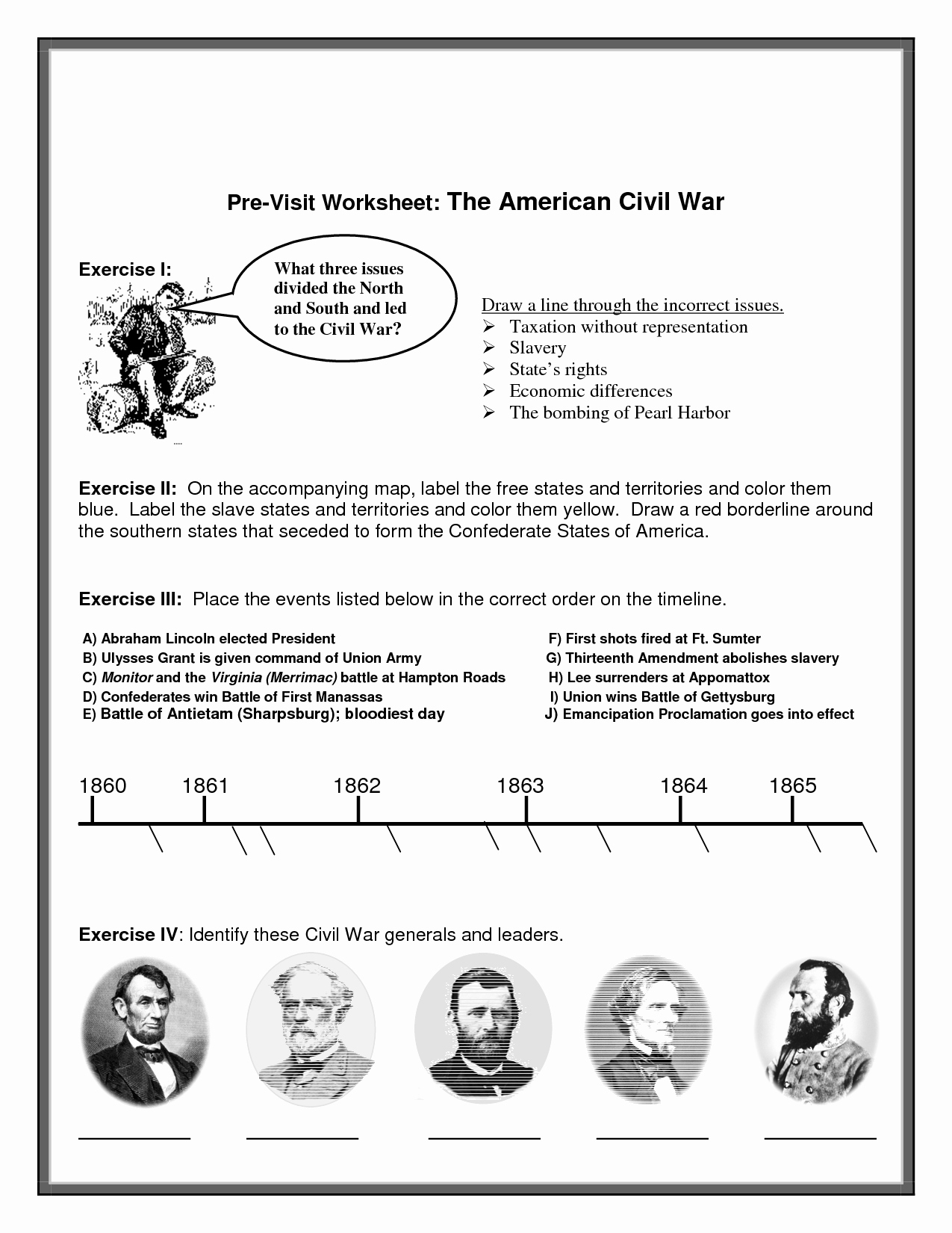 Civil War Map Worksheet Unique Civil War Printable Worksheets