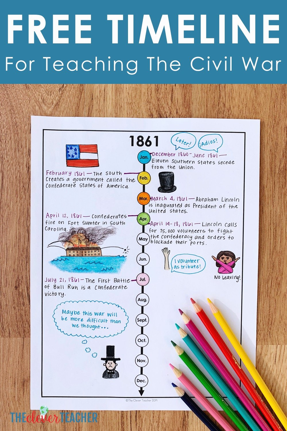 Civil War Timeline Worksheet Luxury How to Teach the Civil War with Timelines Free Worksheet