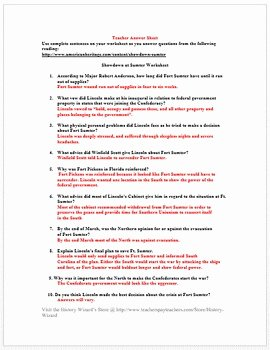 Civil War Worksheet Pdf Best Of Showdown at fort Sumter Civil War Worksheet Great Reading