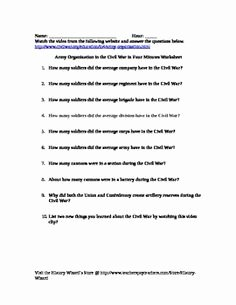 Civil War Worksheet Pdf Elegant Civil War Emancipation Proclamation In Four Minutes Video