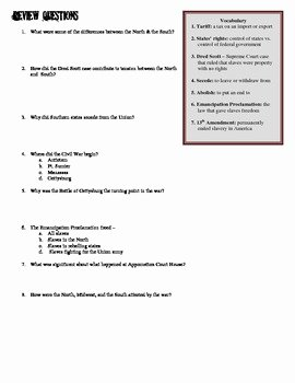 Civil War Worksheet Pdf Luxury Civil War Essential Knowledge Worksheet by Students Of