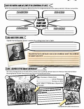 Civil War Worksheet Pdf Unique events Leading to Civil War by Instructomania with Mr