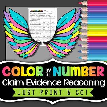 Claim Evidence Reasoning Science Worksheet Best Of Claim Evidence Reasoning Science Color by Number