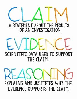 Claim Evidence Reasoning Science Worksheet Best Of Claim Evidence Reasoning Scientific Explanations Poster