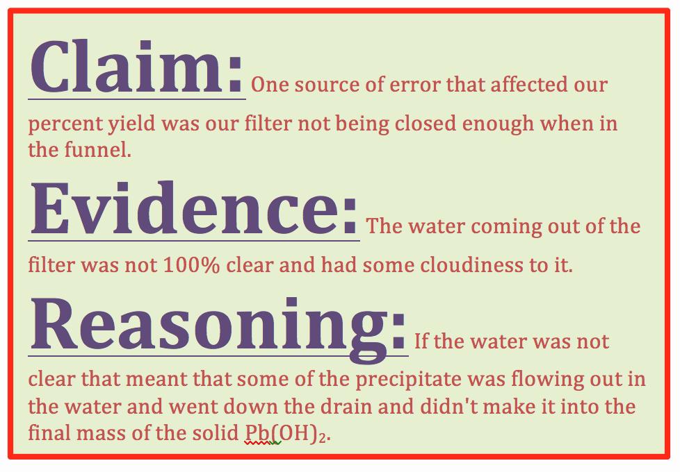 Claim Evidence Reasoning Science Worksheet Fresh Implementing the Claim Evidence Reasoning Framework In