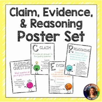Claim Evidence Reasoning Science Worksheet Luxury Cer Claim Evidence Reasoning Posters by Science Lessons