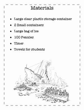 Claim Evidence Reasoning Science Worksheet New the Titanic Claim Evidence Reasoning Activity by Black