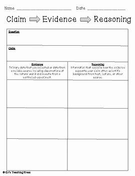 Claim Evidence Reasoning Framework Template