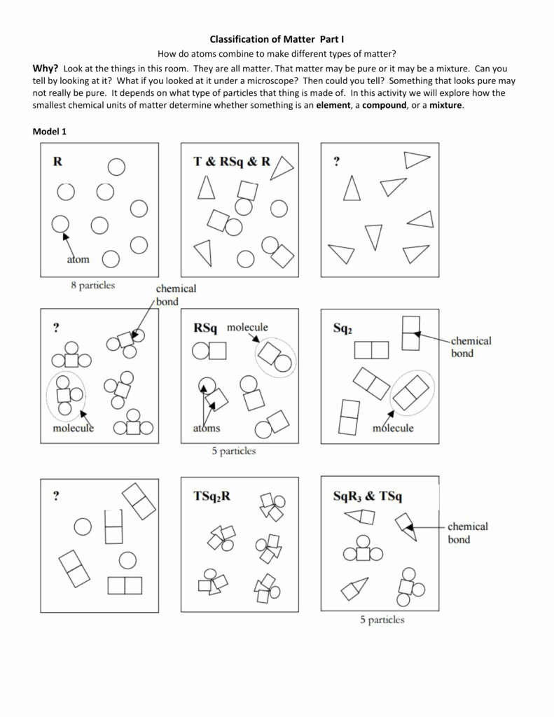 Classification Of Matter Worksheet Answers New Classifying Matter Worksheet Answers Key