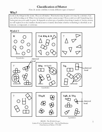 Classification Of Matter Worksheet Awesome Classification Matter Worksheet Chemistry Answers