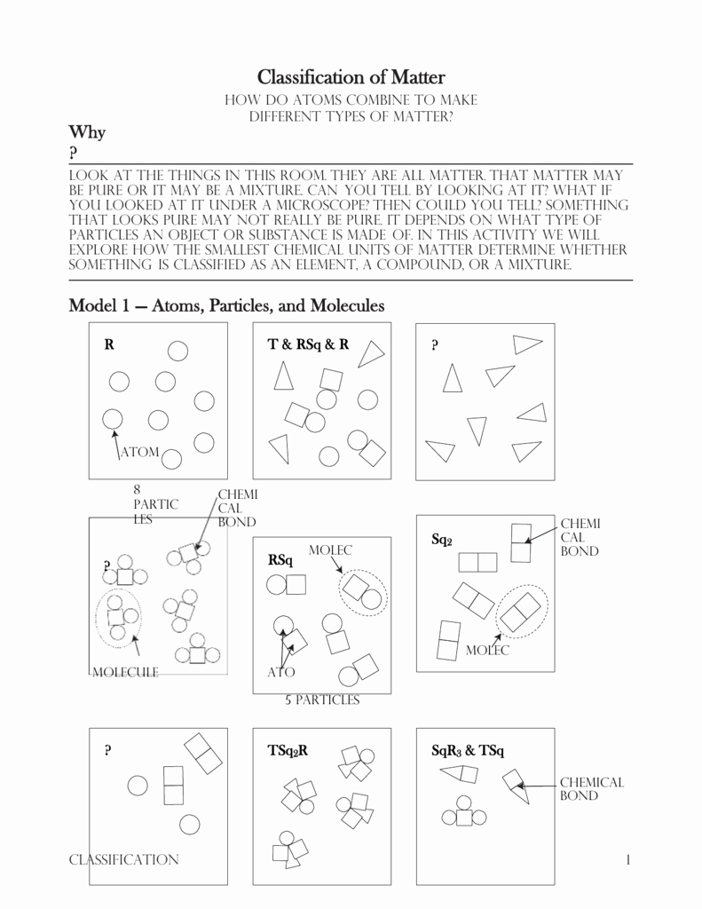 Classification Of Matter Worksheet Beautiful 7 Classification Of Matter S